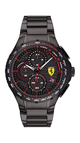 Scuderia Ferrari Herren Analog Quarz Uhr mit Edelstahl Armband 0830730