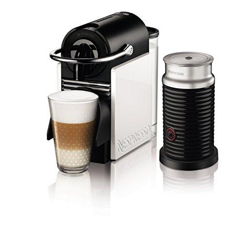 ネスプレッソ コーヒーメーカー ピクシークリップ エアロチーノセット ホワイト&コーラルレッド D60WR-A3B