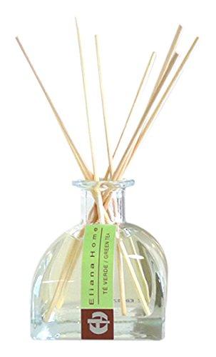 Eliana Home Difusor con Varillas de 100 ml te Verde, Aceites Esenciales aromatizados,...