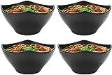 Juego de cuencos de 4 piezas de sopa de fideos ramen japonés, cuencos profundos, 63 oz/1800 Ml, vajilla de plástico duro de melamina de alta capacidad para cuencos de fideos asiáticos Udon Soba Pho