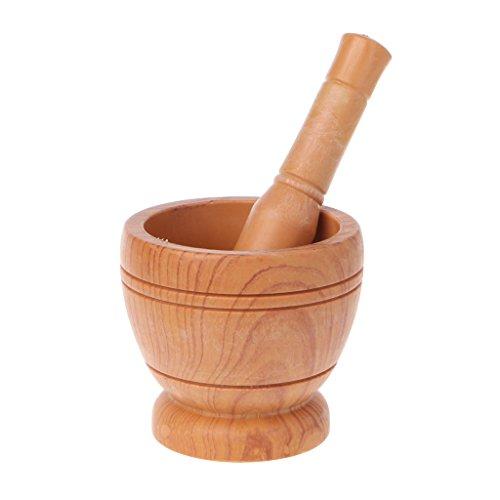 BetterM Wooden Grinder Garlic, Tools SpiceMortar Pestle Gadget Tools
