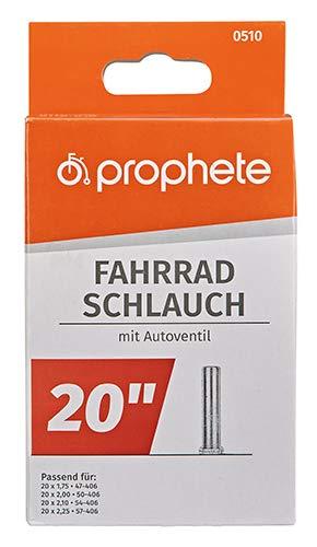 Prophete Fahrradschlauch 20 X 1,75-20 X 2,125 (47/57-406), schwarz, L - 2