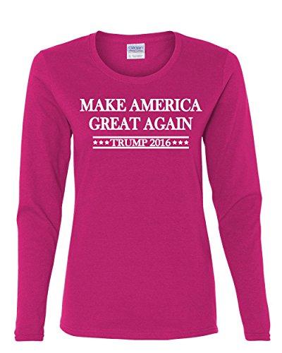 Hacer América Gran Nuevo Manga Larga Camiseta Trump para Presidente