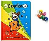 DIARIO SCOMIX SCOTTECS Comix Scuola datato 2021-2022 multicolore + OMAGGIO 1 PALLINA RIMBALZANTE EMOJI selezione CART ONE