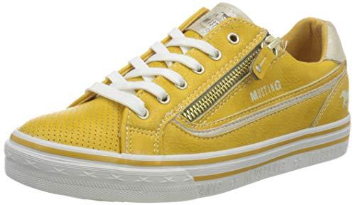 MUSTANG Damen 1354-304 Sneaker, Gelb (Gelb 6), 39 EU