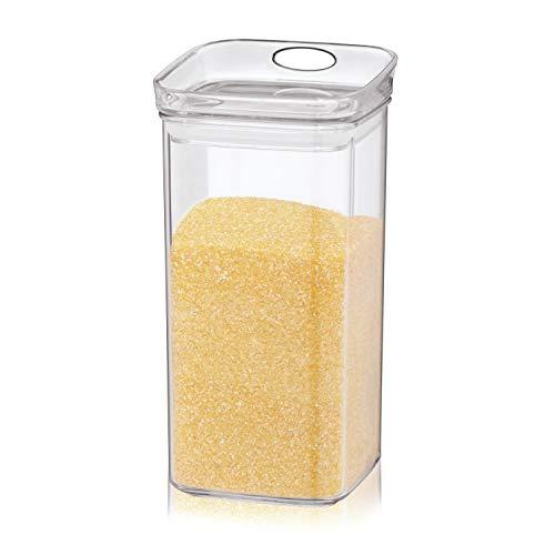 kela | Vorrats-Dose Jule mit Deckel | 1.2L | eckig | Frischhalte-Box | Kunststoff-Behälter klar| stapelbar | Lebensmittel-Aufbewahrung | aromadicht