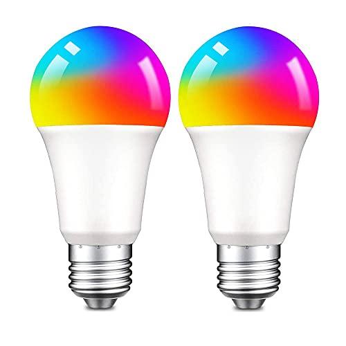 Bombilla LED inteligente Alexa E27, DOGAIN Zigbee, 9 W, multicolor, regulable, RGBCW, 16 millones de colores, compatible con Echo Plus y Echo Show (2ª generación), requiere concentrador (2...
