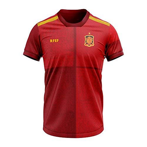 Réplica oficial camiseta primera equipación rfef 2020, 20CM0001, Regular Fit, Rojo, M
