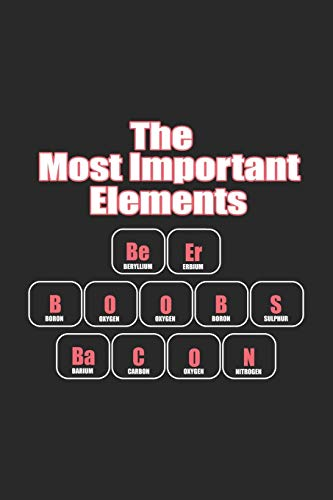 The Most Important Elelements Beer Boobs Bacon: Drinking Booze Tour Notebook Pub Crawl Journal for Bars, Bartender and students, sketches ideas, ... Medium College-ruled notebook, 120 pages