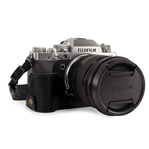 MegaGear MG1923 Ever Ready Kameratasche aus Echtleder, für Fujifilm X-T4, Schwarz