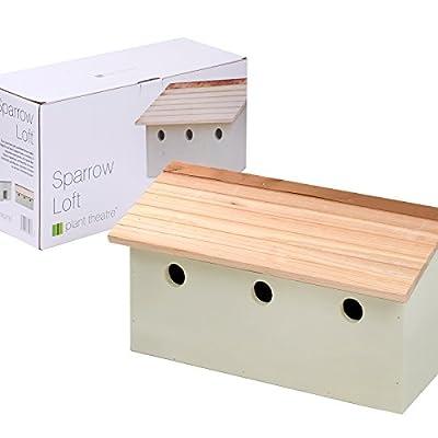Plant Theatre Sparrow Loft - 3 Bird Nesting Terrace - Perfect Garden Gift by Plant Theatre