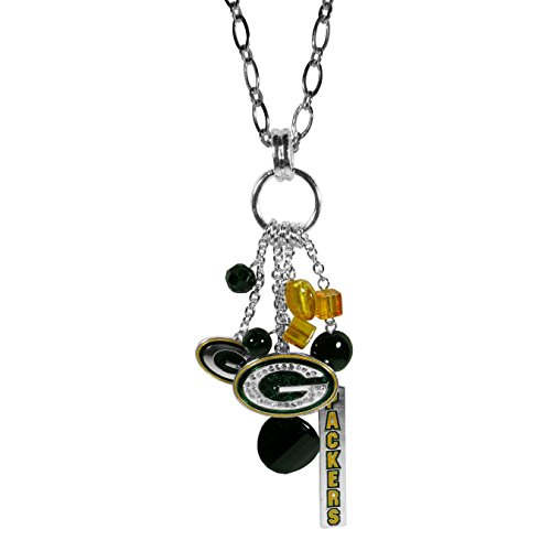 NFL Siskiyou Sports Womens Green Bay Packers Cluster Necklace 30 inch Team Color