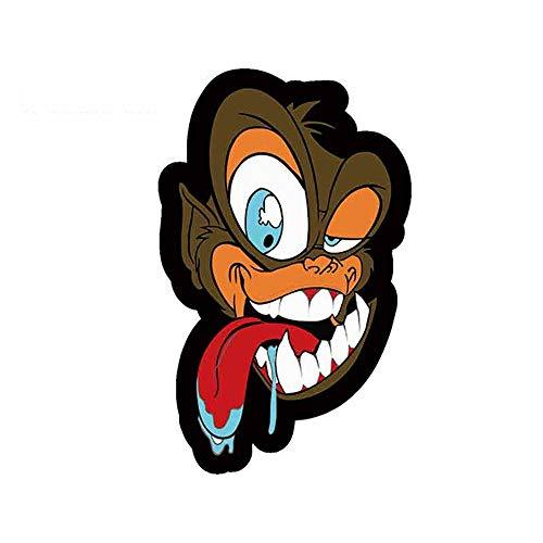 13 cm x 8,3 cm Cartoon lustige Autoaufkleber für Comic Crazy Ape Art Design Auto Decals Dekoration