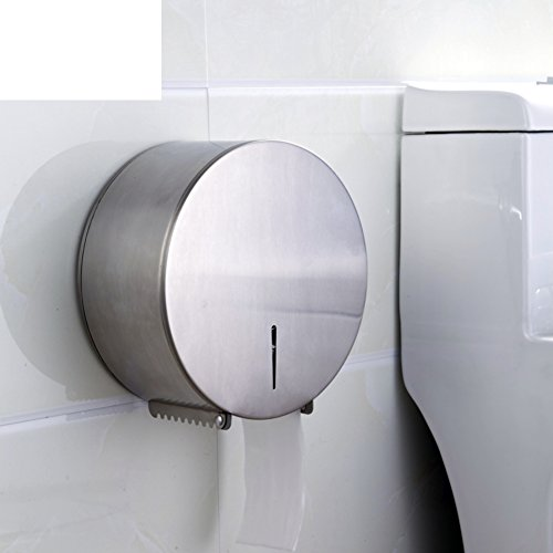 Roestvrijstalen rolhouder, toiletpapierhouder, grote papierrollen kartonnen doos/weefsel/grote tissue box-A