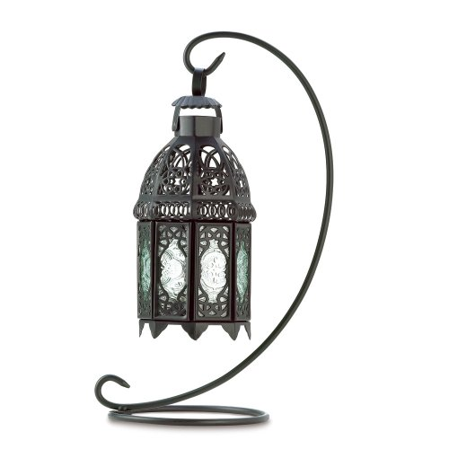 Home Locomotion Moroccan Tabletop Lantern Black by
