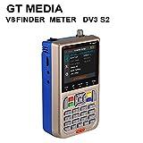 Docooler GTMEDIA V8 Meter Messgerät TV-Signal Finder-Messgerät DVB-S / S2 / S2X HD Digitalzähler 3,5-Zoll-LCD-Anzeige 3000mAh Batterie
