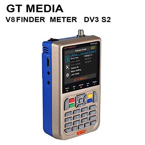 Docooler GTMEDIA V8 V8 Satelliten Finder TV-Signal Finder-Messgerät Meter Sat Finder Satellitenerkennung DVB-S / S2 / S2X HD Signalempfänger 3,5 Zoll LCD Anzeige Eingebauter 3000mAh