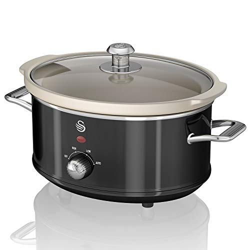 Swan Olla DE COCCION Lenta 3.5 L Color Negro