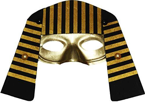 Petitebelle Ägypten Pharao Maske Kostüm Gr. Einheitsgröße, gold