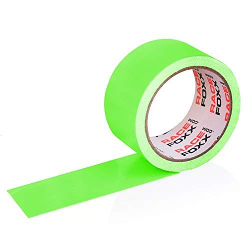 Gaffa/Gaffer Tape, Gewebeklebeband, Lasso, Panzertape, Klebeband, Kleber, neon grün, RACEFOXX