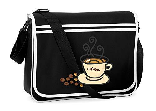 Druckerlebnis24 Schultertasche - Getränke Kaffee Kaffee Haferl - Umhängetasche, geeignet für Schule Uni Laptop Arbeit