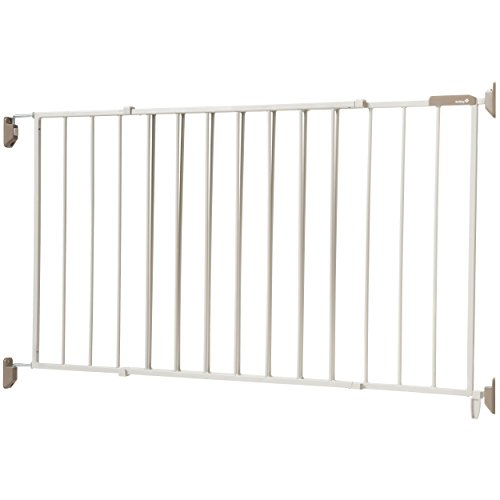 Safety 1st Wide and Sturdy Sliding Gate - Taupe White