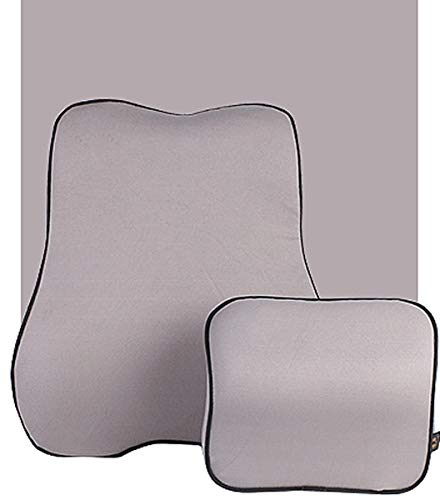QSWL Memory Foam Seat Cushion Lumbar Back Support Pillow Lumbar Reposacabezas Coche, Cojin Cervical Coche En Cojin Lumbar (Color : Sea Sky Blue, Size : 44x38x13cm)