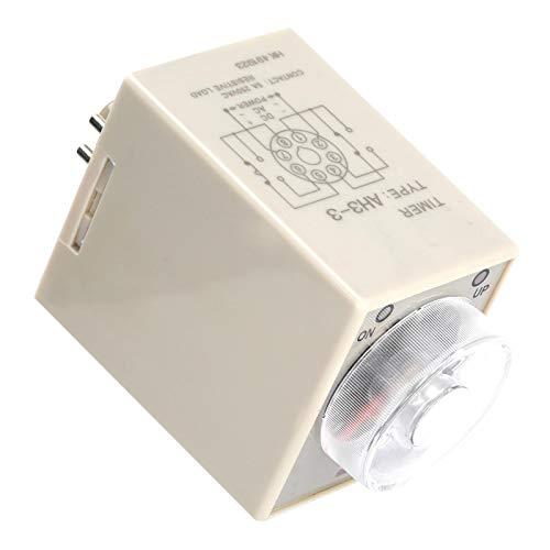 Jeanoko Relé Temporizador de retardo de bajo Consumo 220VAC 50 / 60HZ 6/10/30/60 Minutos Relé de retardo de Encendido Proyectos de electrónica de construcción para Aplicaciones(60M)