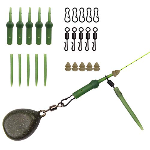 SHADDOCK Carp Fishing Rigs Helicopter Kit for Coarse Carp Hair Rigs, Chod Rig Buffers Beads Quick Change Swivels Anti-tangle Sleeves Carp Fishing Tackle, 101pcs/box