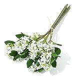 YIPON Flor artificial, ramo de flores de seda vintage generoso perfumado lila para el hogar, boda, decoración de fiesta