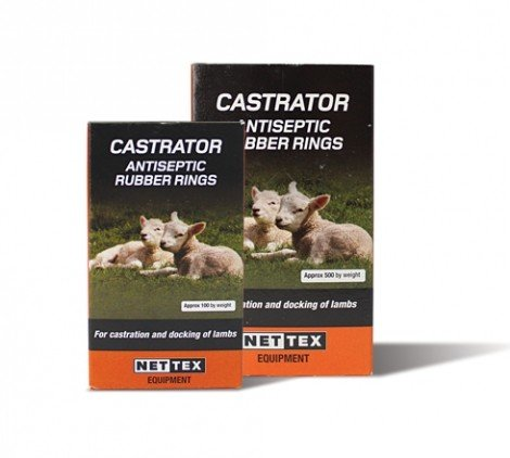 Castration Rings x 100, Antiseptic rubber rings