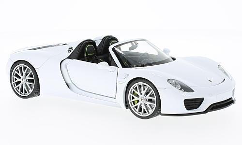 Porsche 918 Spyder, weiss, offen, Modellauto, Fertigmodell, Welly 1:24