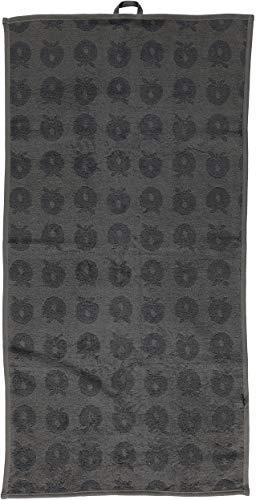 Smafolk Handtuch 50x100cm grau mit Äpfeln