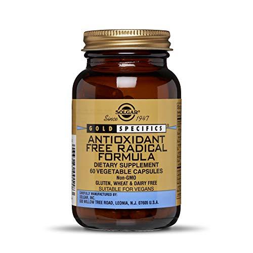 Solgar Antioxidant Free Radical Formula 60 Vegetable Capsules  Contains Zinc Vitamins C E amp A Turmeric Ginkgo Green Tea amp More  Non GMO Vegan Gluten Free Dairy Free  30 Servings