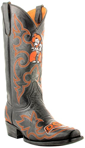 Gameday Boots NCAA Oklahoma State Cowboys Men's, Black, 9.5 D (M) US