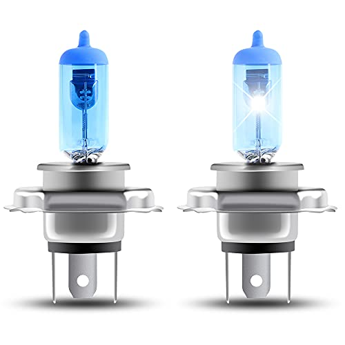 H4 55/60W Lámpara halógena de xenón Blanco 5000K 12V Reemplazar Faros de coche Luz antiniebla-2 luces