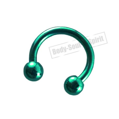 Fer de Cheval circulaire Turquoise 8mm Oreille Œil Lèvre Barbell rond Mamelon bijouterie