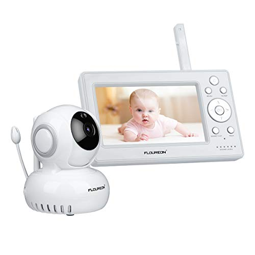 "FLOUREON Vigilabebé Inalámbrico Video Audio Pan/Tilt 720P HD 5 ""Pantalla LCD Invisible..."