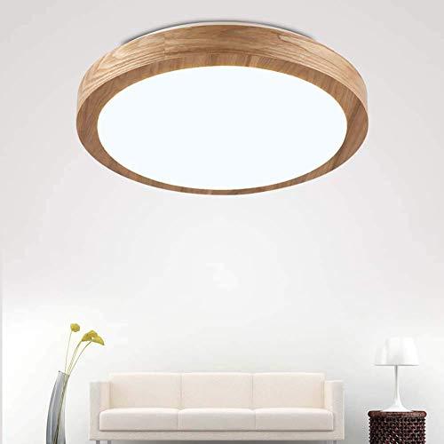 Mnjin Plafonniers LED de décoration Moderne, plafonnier en Bois Moderne, luminaire encastré Rond, éclairage de Plafond Blanc Froid 6500K pour Salle à Manger Couloir Salon Cuisine Chambre Chambre