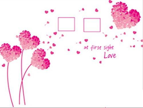 Creative Mur Autocollant Amour Fleur Cadre Photo Salon Chambre Maternelle Environnement Mise en Page 3D Amovible Sticker Mural