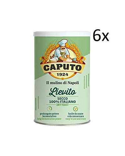 6x Caputo Lievito Secco 100% Italienisch Trockenhefe für die Bäckerei Hohe Aktivität pizza 100g