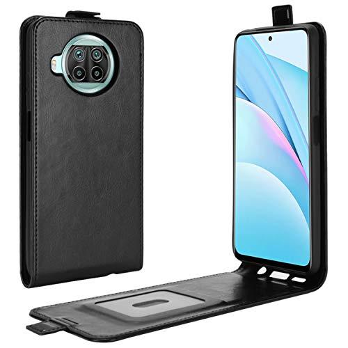 HualuBro Xiaomi Mi 10T Lite 5G Hülle, Premium PU Leder Brieftasche Schutzhülle HandyHülle [Magnetic Closure] Handytasche Flip Hülle Cover für Xiaomi Mi 10T Lite 5G Tasche (Schwarz)