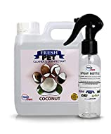 Trade Chemicals Fresh Pet Disinfectant 1L with Spray, Deodoriser, Cleaner (CLEAN COTTON)