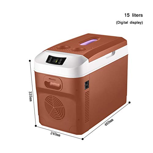 XY-M Compressor Fridge,With Digital Display, 12L Can Control The Temperature, 12 / 15L Isothermal Hot/Cold, 12V And 230V For Car And Camping [Energy Class A ++]