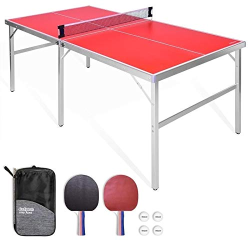 Sale!! MISC 6â€x3†Mid-Size Table Tennis Game Set Red
