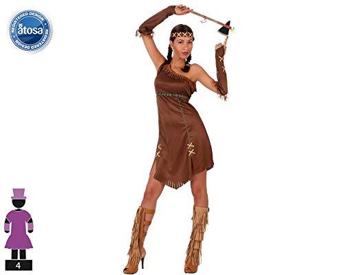 Atosa-39511 Disfraz India, Color marrón, XL (39511)