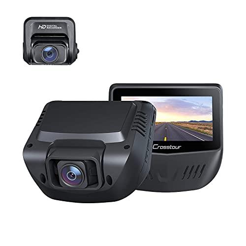 【令和進化版】ドライブレコーダー 前後カメラ Crosstour 超暗視機能 GPS機能搭載 ドラレコ「最大128GB SDカードサポート」前後とも 1080PフルHD 前後2カメラ同時録画 Sonyセンサー 1200万画素 高画質 リアカメラ WDR機能 前後とも170超広角 小型3インチ Gセンサー/夜間対応/動体検知/上書き機能/高速起動/緊急録画/高温保護/NOVATEK チップ どらいぶれこーだー 車載カメラ 操作簡単 日本語メニュー 日本語取扱説明書 2年メーカー安心保証 CR900 プレゼント