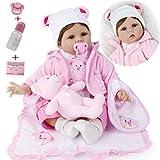 ZIYIUI Muñecas Reborn de 22 Pulgadas Realista Suave Silicona Vinilo Reborn Doll Mujer Reborn Baby Dolls Simulación 55 Cm Baby Reborn Doll Girl Boy Reborn