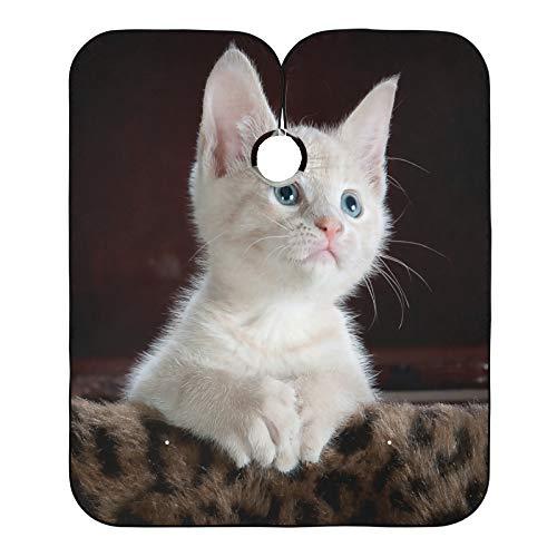 Cabo de peluquero para el salón de peluquería con diseño de gato y gato de corte de pelo, babero para el salón de casa y peluquería
