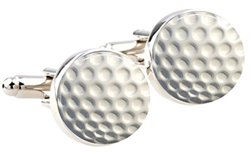 Bassin and Brown White Round Golf Ball boutons de manchette de